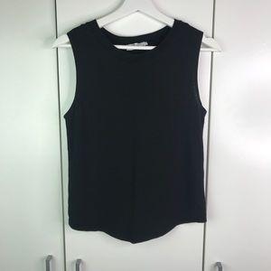 Black Zara Organic Cotton sleevless top